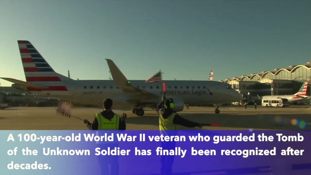 100-year-old veteran who guarded the Tomb of the Unknown Soldier finally gets recognition