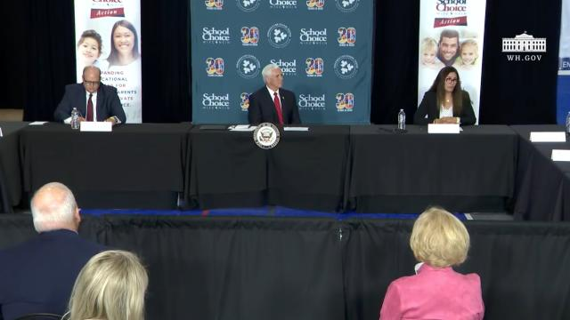 Vice President Pence participates in a school choice roundtable