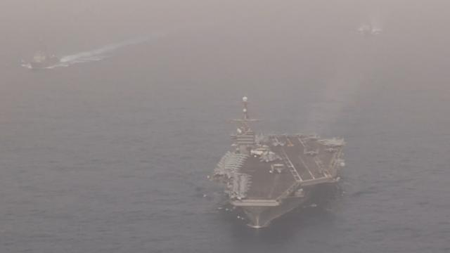 US deploys aircraft carrier strike group