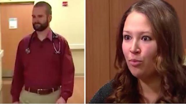 "Young Dr Delivers Woman's Baby But At 2 Wk Check Up Mom's Mouth Falls When Dr Says ""I Have Something"