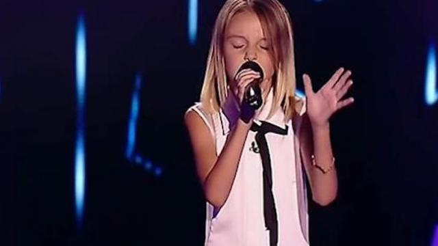 Tiny 10-yr-old belts demi lovato's hardest song— has all 4 judges turning in seconds.