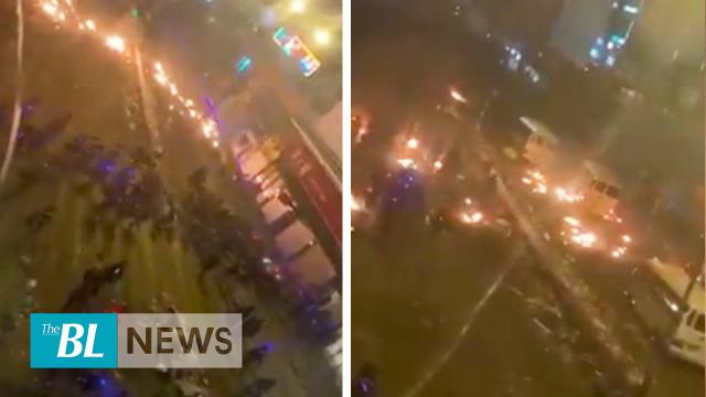 HK police fired stun grenades and rammed vehicles into a crowd, causing a severe stampede
