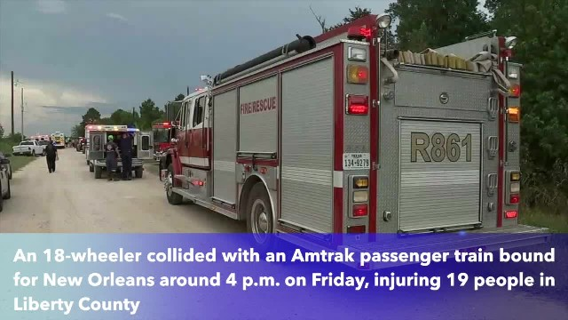 19 injured when Amtrak train hits semi in Southeast Texas
