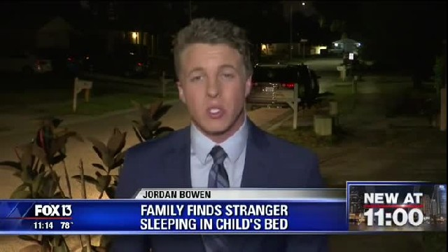 Babysitter wakes up to confused boy saying he walked into his room where a stranger is sleeping