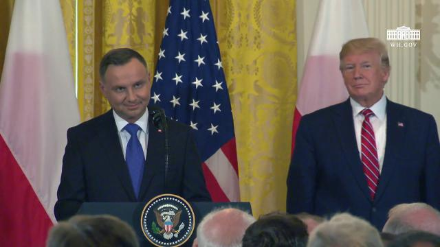 President Trump and the First Lady Attend the Polish-American Reception