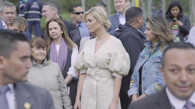 Ivanka Trump Tours a Women-Owned Strawberry Farm in Columbia