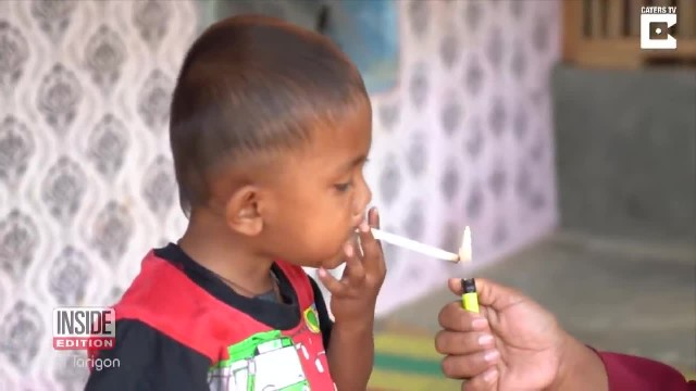 Mother buys 2-year-old son two packs of cigarette a day to stop his tantrums