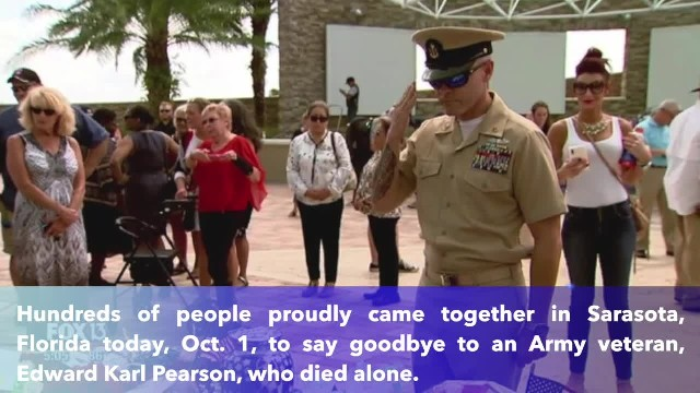 Huge crowd shows up in Sarasota to honor Florida veteran who died alone