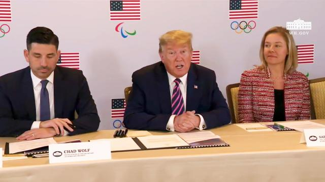 President Trump participates in a briefing with the U.S. Olympic and Paralympic committee