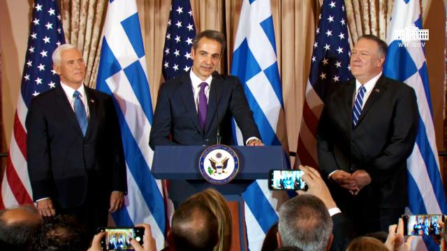 Reception in Honor of the Prime Minister of the Hellenic Republic and Mrs. Mitsotaki