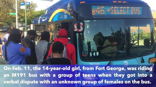 14-year-old girl slashed in the face on MTA bus in Manhattan while heading home from school