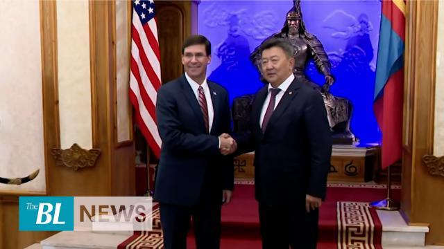 Pentagon chief gets a horse from Mongolian counterpart
