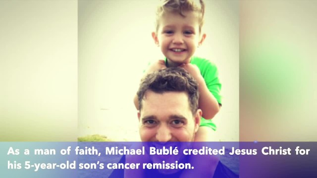 Michael Bublé credits Jesus Christ for his son's cancer remisssion