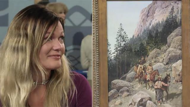 Woman bursts into tears over value of grandma's painting