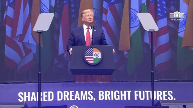 "President Trump Delivers Remarks at ""Howdy Modi: Shared Dreams, Bright Futures"""