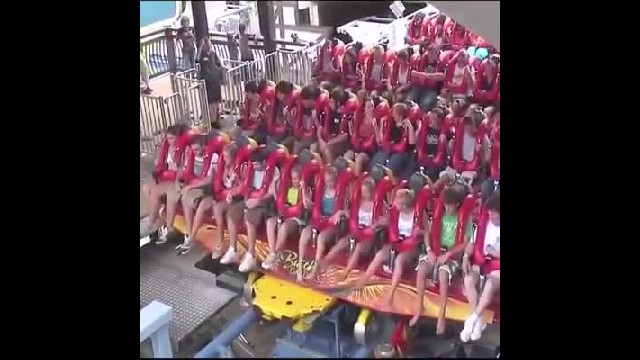 The vertical drop of this roller coaster in Busch Gardens Amusement Park leaves its passengers breat