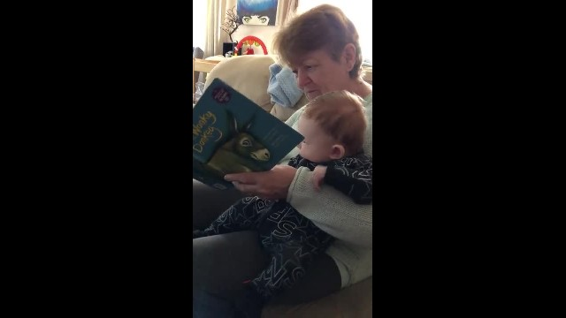 Granny laughs uncontrollably reading 'The wonkey donkey' and it goes viral