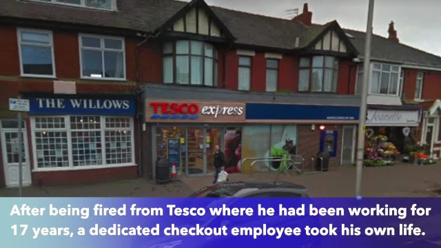 Tesco worker killed himself a week after being sacked for leaving his till to chase a shoplifter
