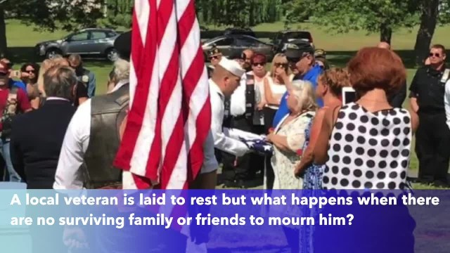 Veteran died with no known family, Hundreds of strangers came to his funeral in Michigan to say good