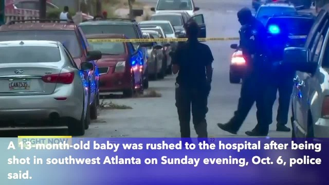 13-month-old toddler shot in crossfire in southwest Atlanta