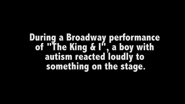 Broadway star sends open letter to autistic child who interrupted his big performance