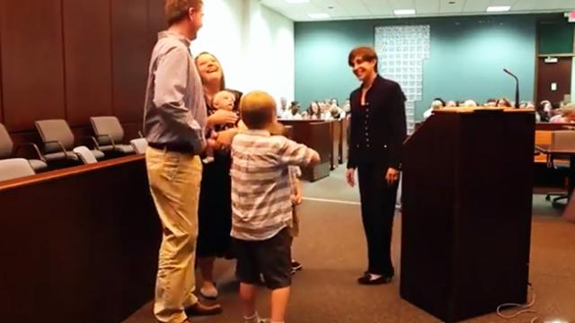 Son tells judge he doesn't want mom to adopt sister