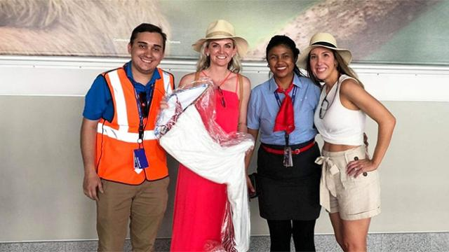 Southwest airlines saves the day by reuniting a woman with her forgotten bridesmaid dress