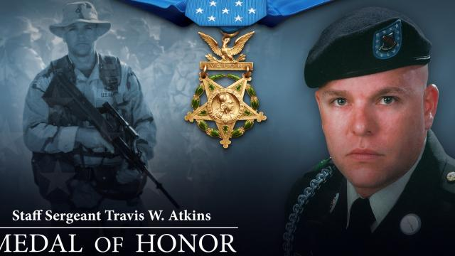 President Trump presents an American hero with the Medal of Honor