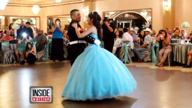 Marine dances with daughter at Quinceanera and blows crowd's mind with amazing talent