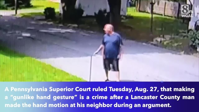 Pennsylvania man pointed a finger gun at his neighbor, it deemed crime by court