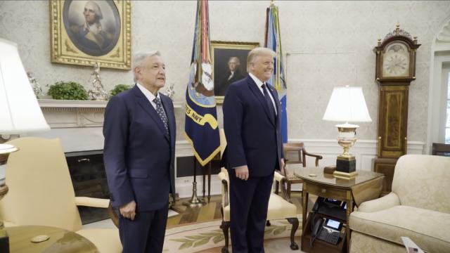 President Trump welcomes Mexican President Andrés Manuel López Obrador to the White House