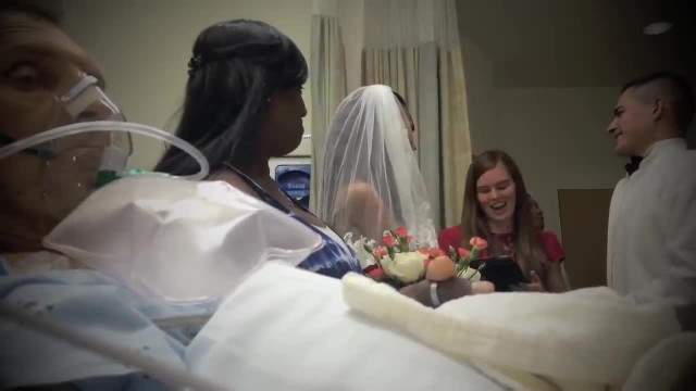 Her dad was too sick to attend wedding, so she brought the ceremony to him