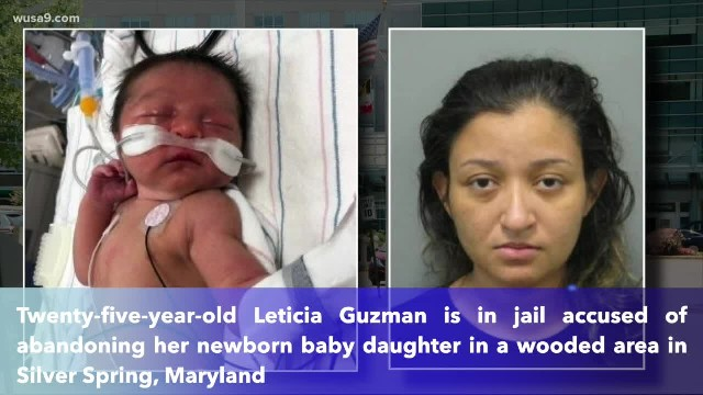 Maryland woman charged for abandoning newborn baby in the woods in Silver Spring