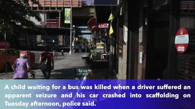 Child at bus stop fatally struck after out-of-control SUV jumps Brooklyn sidewalk