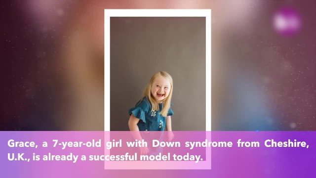 Meet 7-year-old Grace, she has Down syndrome and a successful modeling career