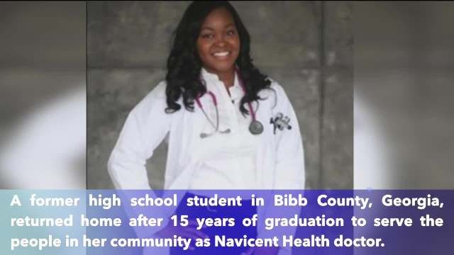 Former high school student returns after 15 years of graduation to serve her community as doctor
