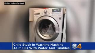 Mom Hears Husband Scream In Basement, Runs Down To Find 3-Year-Old Trapped In Washing Machine