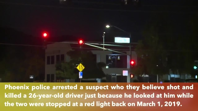 Man shot and killed for looking at suspect at an intersection in Phoenix, Arizona