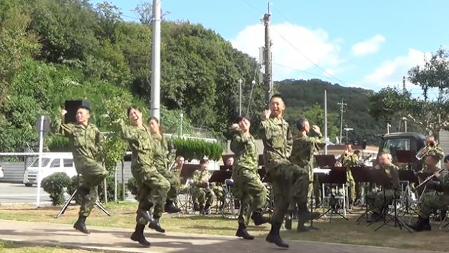 Soldiers showed off their dance moves when they attempted to dance to 'USA' of Da Pump