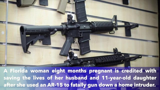 Florida woman 8-months pregnant uses AR-15 to protect family