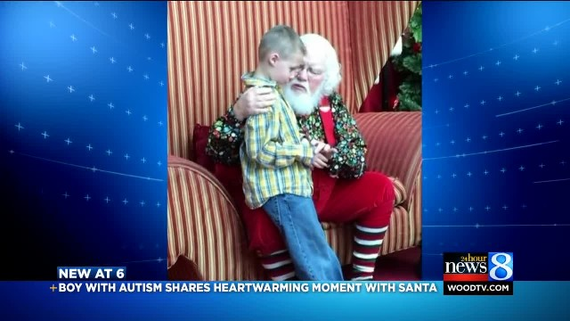 Landon's magical moment with Santa  'I have autism'