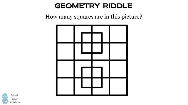 Can You Count How Many Squares Are Hidden In This Pattern?