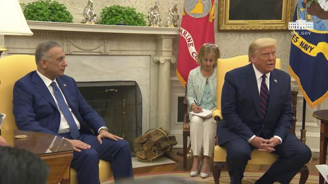President Trump participates in a bilateral meeting with the prime minister of the republic of Iraq