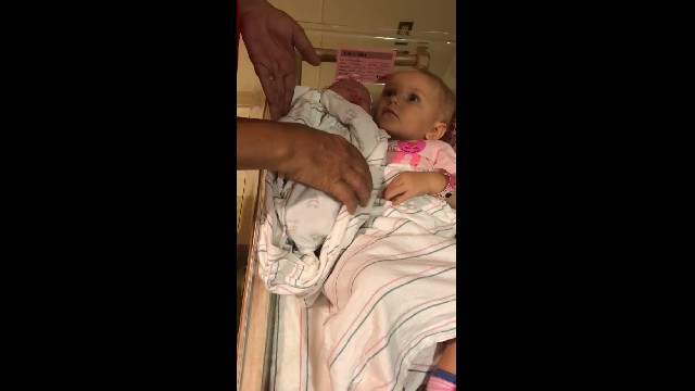 "Grandma asks to ""take the baby"" but comeback from big sis has everyone giggling"