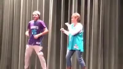 Mother and son step onstage, but mom steals show in hilarious 'Evolution of Dance' performance