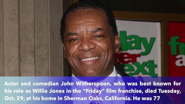 Detroit native, actor and comedian John Witherspoon has died at 77