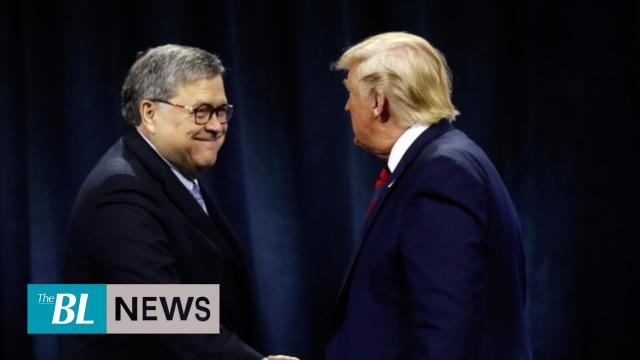 Trump denies he wanted Barr to publicly clear him