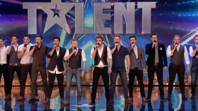 These 12 men walk onstage Within seconds their song sent shivers