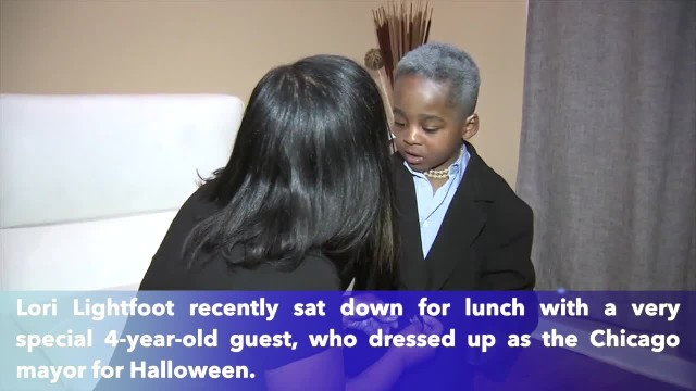 Boy who dressed up as Lori Lightfoot for Halloween gets lunch with mayor