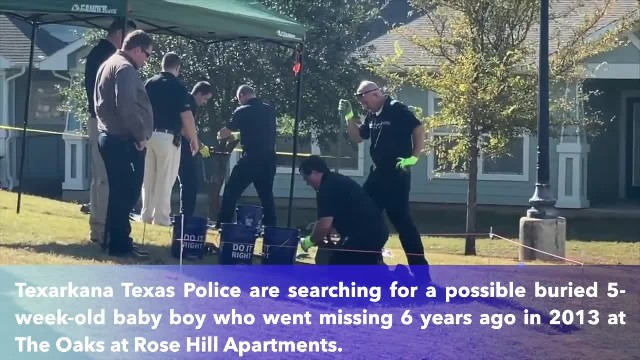 Texas police digging for possible buried baby at Texarkana Apartments